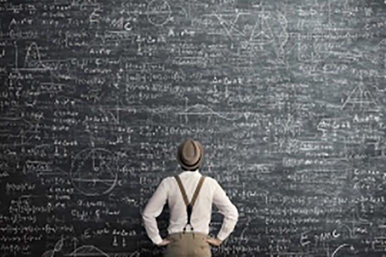 Man Solving Complex Problem