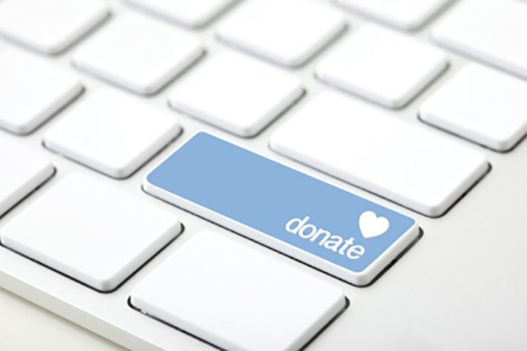 Keyboard with Donate Button