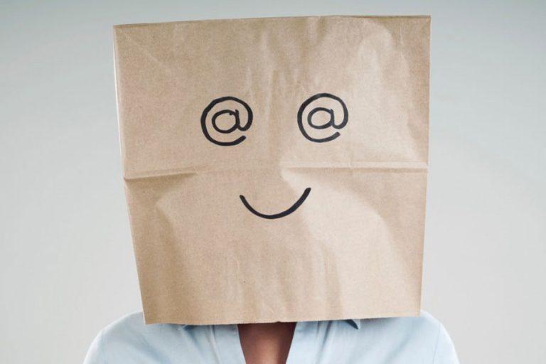 Man Wearing Paper Bag